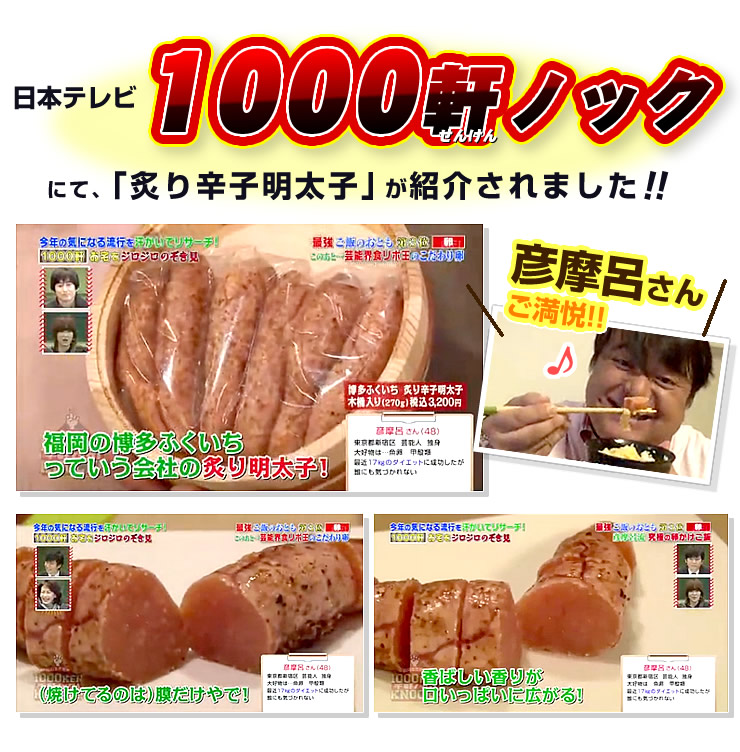 日本テレビ「1000軒ノック」で紹介されました!